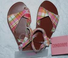 NWT GYMBOREE Girl Cherry Baby Plaid Summer Sandals   Sz. 8