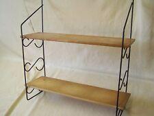 Antiguo String pared estante, 60er 70er años estante