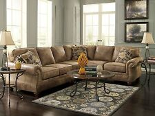 VALENTINE-Traditional Brown Microfiber Sofa Sectional Set Living Room Furniture