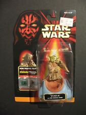Vintage MOC SEALED Star Wars Episode 1 Yoda w/Jedi Council Chair CommTech Chip