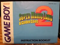 Super Mario Land 2 Authentic Instructions Booklet Nintendo Game Boy Manual Only