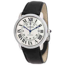 Cartier Ronde Solo Automatic Silvered Opaline Dial Men's Watch WSRN0022