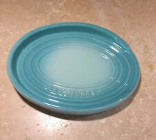 "6.5"" Oval Spoon Rest LE CREUSET ""Cool Mint"" Green NWT Stoneware Pottery Potterie"