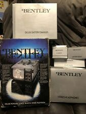 "Vtg New Tv Bentley Deluxe Portable 5"" Black & White Television B&W Battery Power"