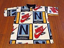 Men's Rare VTG 90's Nike Salesman Multicolor Polo Shirt sz L