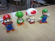4 NINTENDO Super Mario Bros. Figuren aus Hartplastik je 5-6 cm