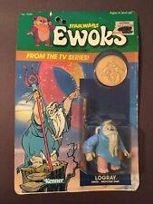 Star Wars Ewoks Cartoon 1985 Logray Ewok Medicine Man New in Box Unpunched