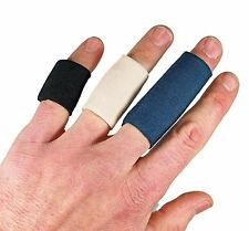 "Padded Spandex Finger Sleeves (1"" Long, Variety Size 6 Pack, Black)"