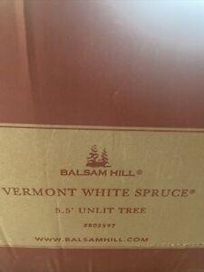 Balsam Hill Vermont White Spruce 5.5' Unlit Tree