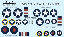 Opération torch partie 3 1/72nd scale decals