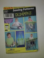 Simplicity 3561 Babies Accessories Shopping Cart Seat Cover Pillow Cover Diaper