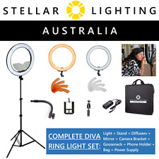 "Diva LED Ring Light Halo - Stellar Lighting - Dimmable 49cm 19"" 55W Mirror Stand"