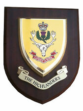 The Highlanders Military Shield Wall Plaque