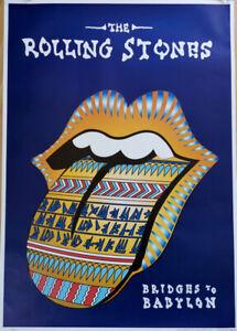 GERMAN MUSIC TOUR POSTER 1997 - THE ROLLING STONES - BRIDGES TO BABYLON