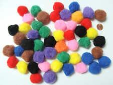 50 pompons ronds 26mm peluches polyester loisirs créatifs Mix couleurs DIY