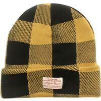 HUF Buffalo Plaid Beanie yellow mustard