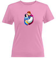 Juniors Girls Women Tee T-Shirt Gift Snow White Princess Prince Love 7 Dwarfs