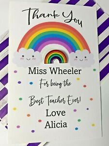 Thank You Teacher Gift - End Of Term Gift - Personalised