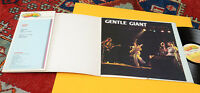 GENTLE GIANT LP TOP PROG ITALY MINT UNIQUE COVER AND BOOKLET