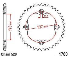 KR Kettenrad 36Z Teilung 520 SUZUKI LT-R 450 QuadRacer 06-09 ... Rear sprocket