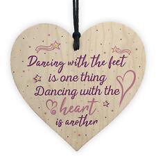 Dancer Gifts Thank You Dance Teacher Gift for Her Keepsake Friendship Heart Sign