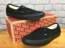VANS MENS UK 8 EU 42 AUTHENTIC BLACK CANVAS TRAINERS LD