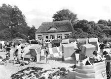 AK, Insel Poel, Schwarzer Busch, Strandhalle, belebt, 1979