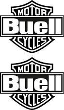 Buell 2 autocollant Bar & Shield Tete De Mort Décalque Biker Skull