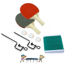 2 Player Portable Table Tennis Ping Pong Set with Net Bat Balls New Complete Set