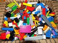 Lego & Mega Toy Lot Bulk 5 Lbs Mixed Building Bricks Blocks Parts Pieces WASHED