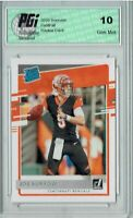 Joe Burrow 2020 Donruss #301 Rated Rookie Card PGI 10