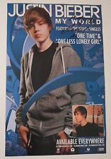 "Justin Bieber REAL hand SIGNED 11x17"" My World promo poster COA #1 Autographed"