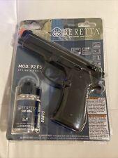 New listing Beretta 92 FS Spring Airsoft Pistol, Black AIRGUNSONLY Electro Brand New Sealed