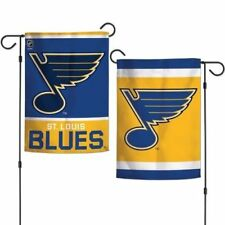 "St. Louis Blues 2 SIDED GARDEN FLAG 12""X18"" YARD BANNER OUTDOOR RATED"