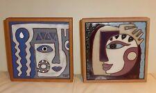 "Justine TOT Tatarsky Art Tiles 6"" - Set of 2"