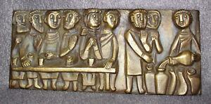 Egino Weinert Bronze Reliefbild  Hochzeit zu Kanaa