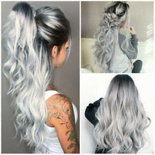 Ombre Wig Sexy Women Long Gray Curly Wig Party Synthetic Cosplay Wigs z