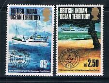 British INDIAN OCEAN TERRITORY 1974 Viaggi postali SG 56/7 Gomma integra, non linguellato