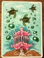 MTG ARTIST PROOF Japanese Coral Helm AP Sketch Art Amy WEBER Magic
