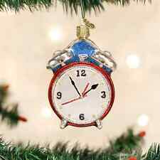Alarm Clock glass Ornament Old World Christmas NEW IN BOX