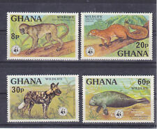 v1852 Ghana/ WWF 1977 Wildtiere  MiNr 702/05 **