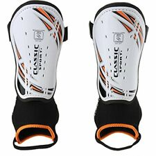 $7 Classic Sport Boys Soccer Guards - Size: (Xs/Extra Small, White/orange), (3)