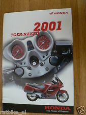 H214 HONDA  BROCHURE PROSPEKT 2001 TOER/NAKED BIKES DUTCH 16 PAGES X-ELEVEN,CB