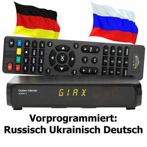 Russische TV Sat Receiver Alpha X FULL HD vorprogrammiert Deutsch Russisch