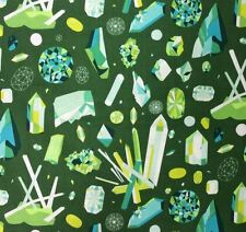 AN72 Gemstones Crystals Geology Rock Lizzy House Science Cotton Quilt Fabric