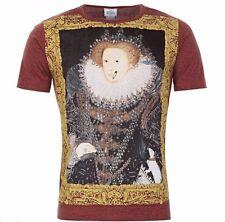 Vivienne Westwood Queen Elizabeth Maroon Tshirt 100% Cotton Sz M BNWT