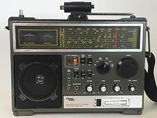 ELECTRO BRAND Model 2961 Vintage Multi Band Radio - AM FM  Cassette  SW1 SW2...
