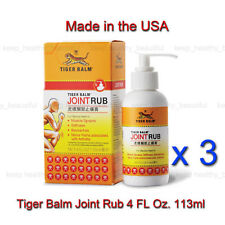 3 x Tiger Balm Joint Rub reduces joint discomfort Free Registered Post