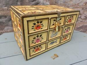 Antique Indian Miniature Dowry Chest. Damchiya. Early 20th C. (294)