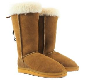 Classic High Ugg Boot - 'Alba' Genuine Australian sheepskin - Outdoor sole